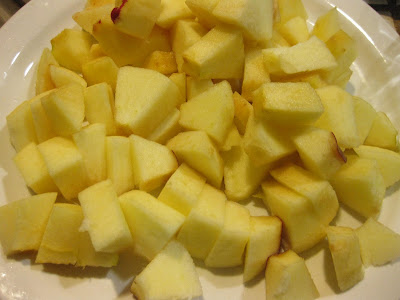 photo of diced apples