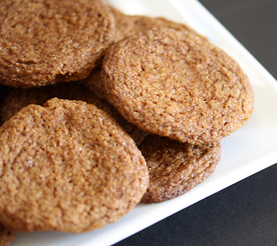 close-up photo of Chewy Molasses Cookies