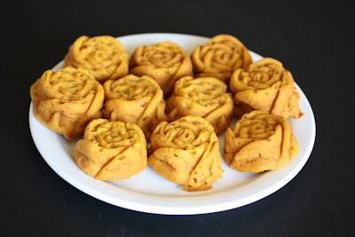 photo of a plate of Sweet Potato Cupcakes