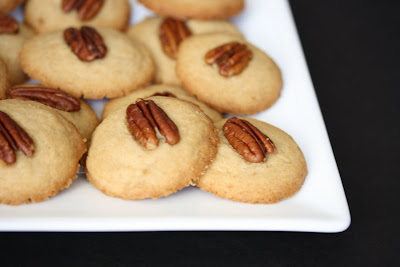 close-up photo of praline pecan cookies