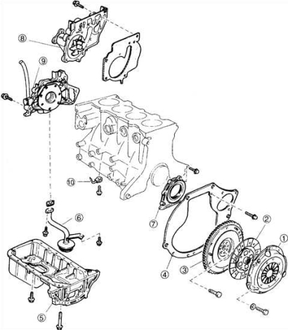1999 Kia Sephia Engine Diagram