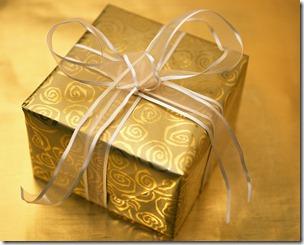 Christmas gift gold