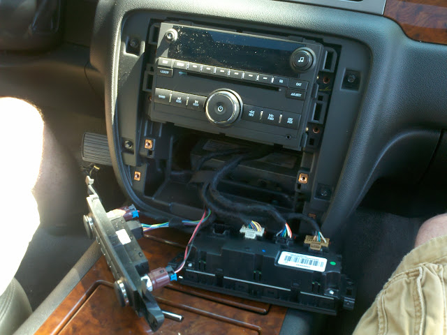 Big Day For The Avalanche Yesterday! Installed OEM nav radio