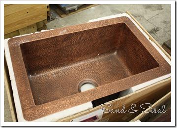 single copper sink