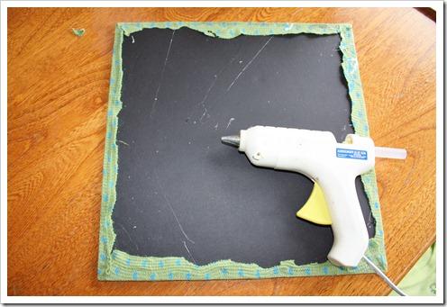 glue scraps on squares