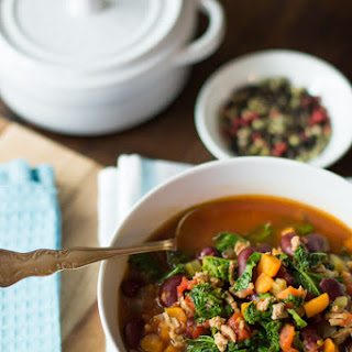 Extra-lean Turkey Chili with Kale.