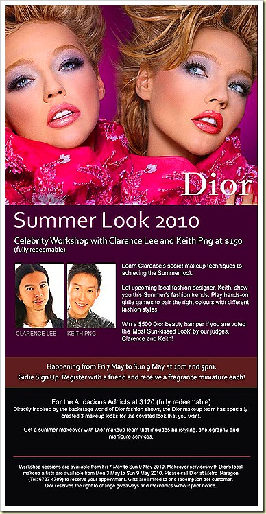 Dior Ultra gloss Summer workshop with Clarence & Keith