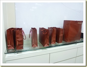 shiseido spring workshop goody bag