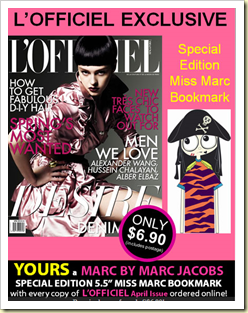 marc by marc jacobs miss marc book mark l'officiel