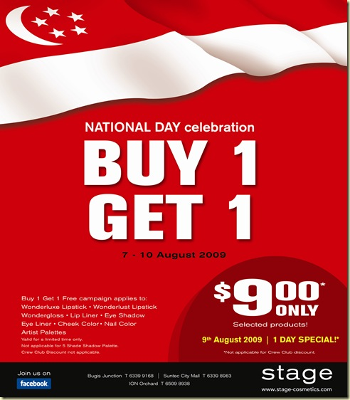 Stage S'pore National Day Sales