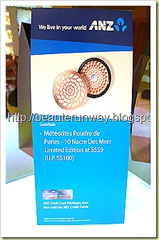 Guerlain Nacre de mes limited edition promo at tangs for anz n rbs credit cards