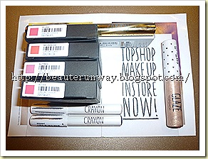Topshop Makeup Mini haul