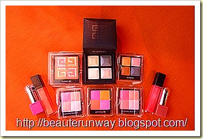 Givenchy Makeup prisme blushers, eyeshadows  lipsticks and lip gloss