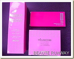 Skin79 diamond bb cream,  perfect cover and star glow powder