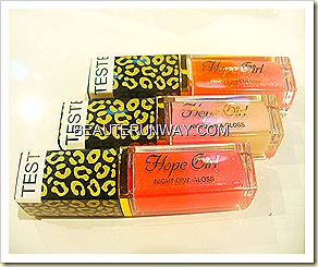 Hope Girl Night Diva Lip Gloss leopard print
