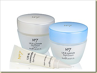 Boots No 7 Lift & Luminate Anti-aging skincare