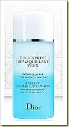 DIOR Instant eye makeup remover