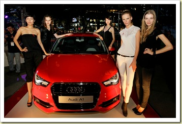 during the Audi Fashion Festival Model Casting Party on April 20, 2011 in Singapore.