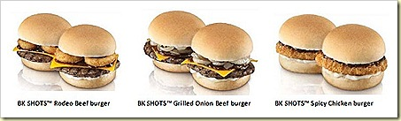 BURGER KING® burger – Rodeo Beef, Grilled Onion Beef ,Spicy Chicken
