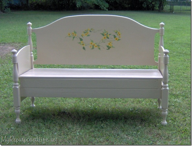 maple bed headboard bench
