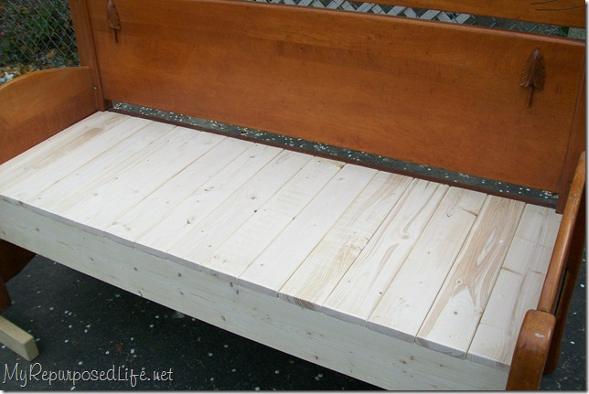 full sized headboard bench tutorial
