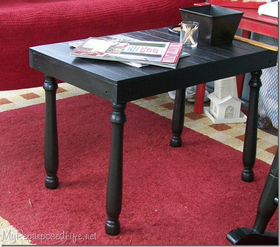 black table made from scraps