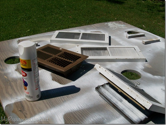 update heat vents with spray paint