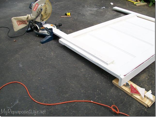 modified old door headboard