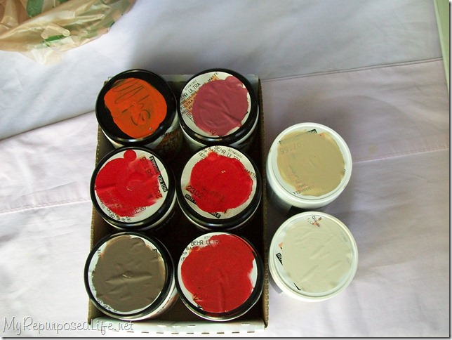 sample paint containers