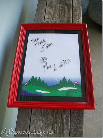 red dry erase board