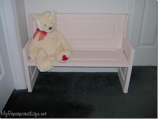 door repurposed into a bench & Door repurposed into bench - My Repurposed Life®