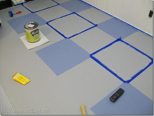 painting a vinyl kitchen floor