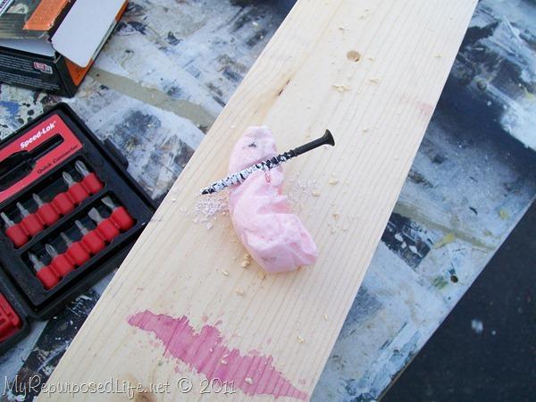 soap a screw