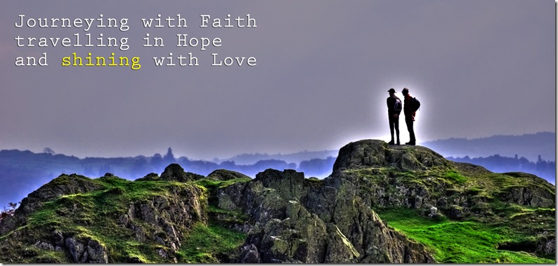 journeying with faith travelling in hope and shining with love copy