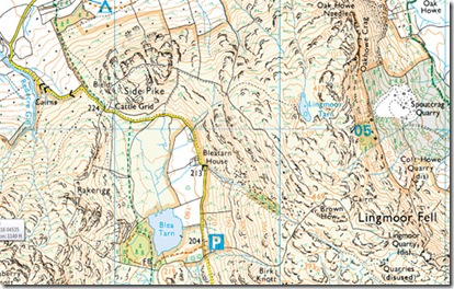 lingmoor fell and side pike map