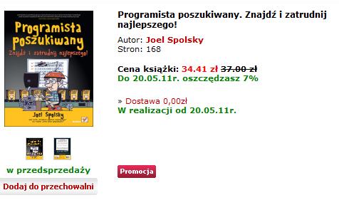 Książka programits poszukiwany