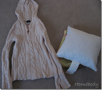 Homebody: Thrifty Gifty #1—Repurpose Clothing as Pillows
