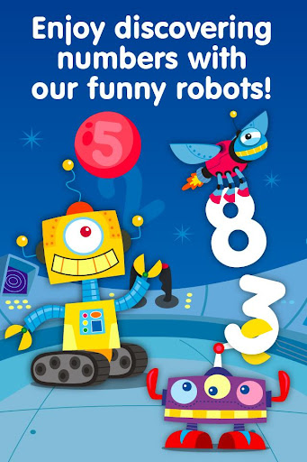 Learn math: Robots Numbers
