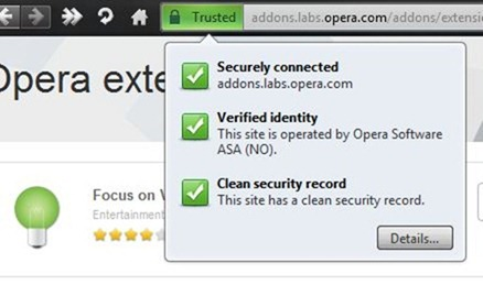 Opera 11 URL SSL Badge