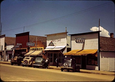 Main St Cascade Idaho Jul 1941