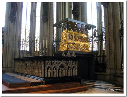 Golden Tomb of thee kings believed to be the Three Wise Men in Cologne Cathedral