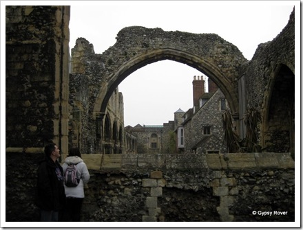 Older ruins of Christ Church Cathedral, Canterbury.