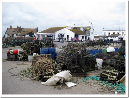 Crab and Lobster pots on Mudeford Quay.