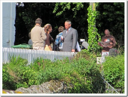 Martin Clunes aka Doc Martin talking to the production team.