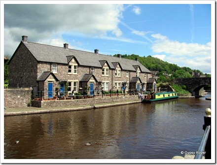 Canal side cottages, Brecon Basin.