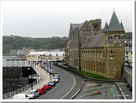 The South tower of the Old College, Aberystwyth University.