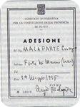 Adesione di Malaparte alla Provincia di Prato