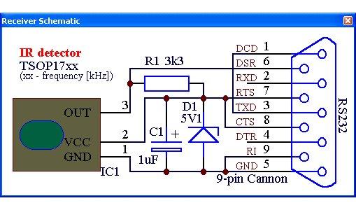 Подробнее о пульте ДУ...  Схема очень проста.