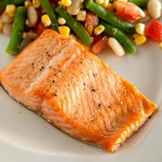 Trout with Green Bean Succotash.
