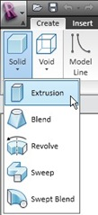 Extrusion in Revit Family Editor